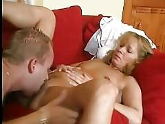 Pretty Hot Mom With Young Guy