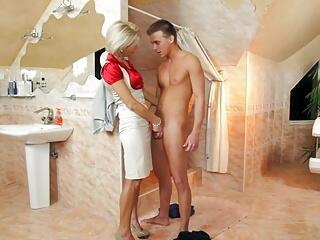 Classy Mom Seduces her Sons best Friend