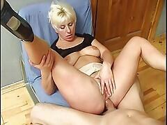Russian Blonde Milf Fucked On The Billiard Table
