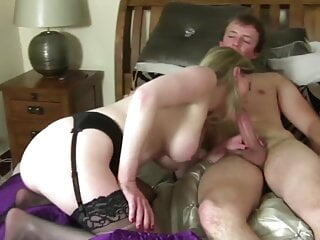 Dirty mature mother fucks her young son's best friend